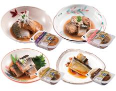 【メール便】三陸産 レトルト 惣菜 煮魚 ・ 蒲焼 4種類4食セットの画像