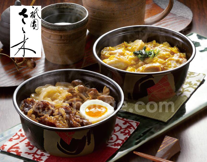 「祇園さゝ木」親子丼と牛すき煮丼の画像