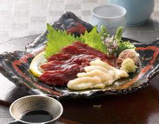【熊本県】馬刺し盛合せ(小分け・たれ付)の画像