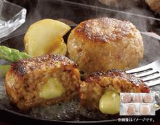 【宮崎県】宮崎県産合挽き肉のチーズ入り生ハンバーグの画像