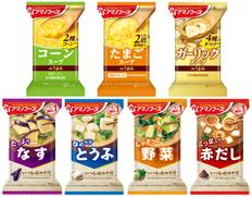 【メール便】アマノフーズ フリーズドライ おみそ汁とスープ 7種類7食セットの画像