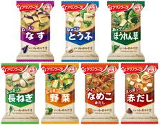 【メール便】アマノフーズ フリーズドライ 人気のおみそ汁 7種類7食セットの画像